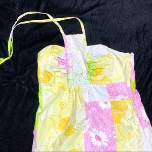 Lilly Pulitzer Daphne Lace Bib Halter Dress Size 4